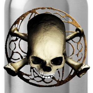 skull_and_tribal_b Shirts - Water Bottle