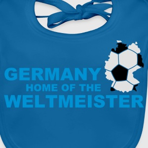 germany home of the weltmeister 2  - Baby Organic Bib