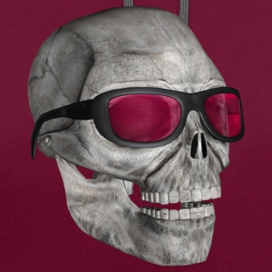 skull with sunglasses - Contrast Colour Hoodie