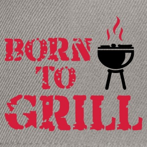 Grau meliert Born to Grill Pullover - Snapback Cap