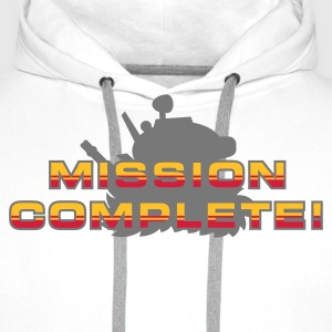 Sand/charcoal Mission Complete! T-Shirts - Männer Premium Hoodie