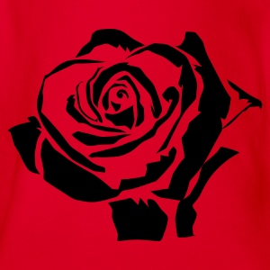 Rot rose Kinder T-Shirts - Baby Bio-Kurzarm-Body
