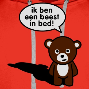 Rood Beest in bed T-shirts - Mannen Premium hoodie