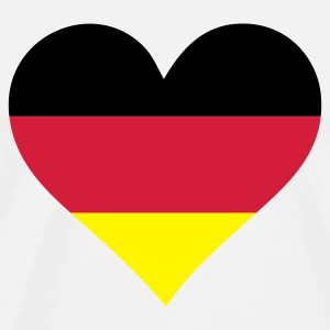 White Heart Germany (3c) Mugs  - Men's Premium T-Shirt