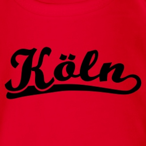 Köln Schrift Retro Kinder T-Shirts - Baby Bio-Kurzarm-Body