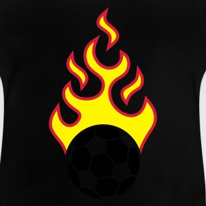 fire_fussball_a_3c_black T-shirts - Baby-T-shirt