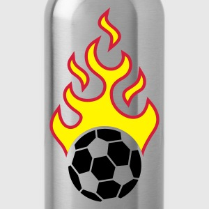 fire_fussball_a_3c_black  Aprons - Water Bottle