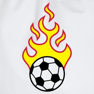 fire_fussball_a_3c  Aprons - Drawstring Bag
