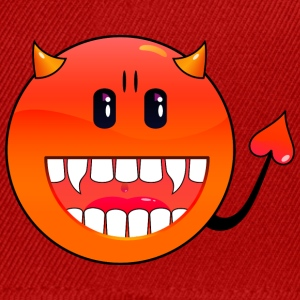 Orange/blanc diable Emoticon / devil smiley (A1, DDP) T-shirts - Casquette snapback
