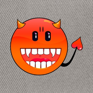 Gris chiné diable Emoticon / devil smiley (A1, DDP) Sweatshirts - Casquette snapback