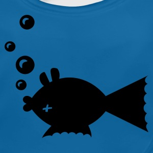 Kungsblå fisk mage upp / fish belly up (1c) Barn-T-shirts - Ekologisk babyhaklapp