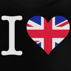 Zwart I Love UK Original (3c) Kinder shirts - Baby T-shirt