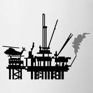 Light heather grey Ölplattform / offshore oil rig (2c) Kids' Tops - Mug