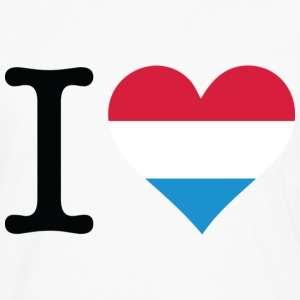 Wit I Love Holland Original Black (DD) T-shirts - Mannen Premium shirt met lange mouwen
