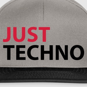 Gris chiné Just Techno Sweatshirts - Casquette snapback