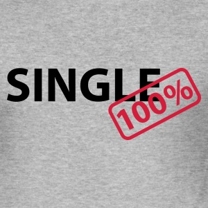 Heather grey Single 100% Hoodies & Sweatshirts - Men's Slim Fit T-Shirt
