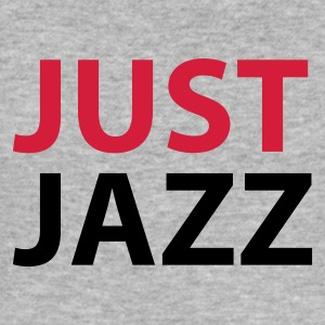 Heather grey Just Jazz Hoodies & Sweatshirts - Men's Slim Fit T-Shirt