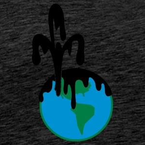 Vert deep blue: pollution par les hydrocarbures /  oil pollution (3c) Sweatshirts - T-shirt Premium Homme