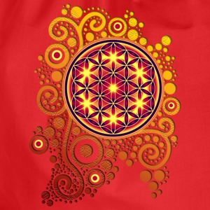 BLUME DES LEBENS / flower of life POWER | Frauenshirt organic - Turnbeutel
