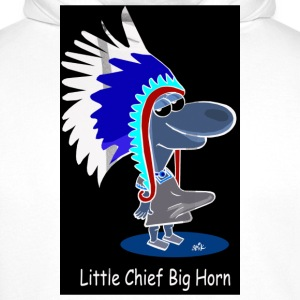 White Little Chief Big Horn Buttons - Men's Premium Hoodie