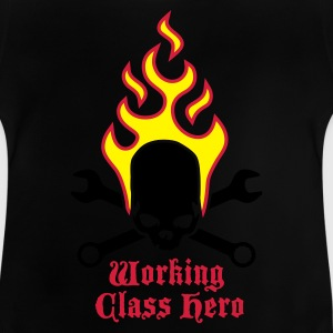 fire_skull_working_class_hero_b_3c Shirts - Baby T-shirt