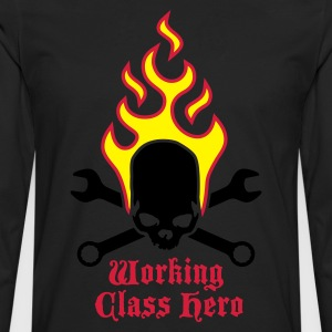 fire_skull_working_class_hero_b_3c Tabliers - T-shirt manches longues Premium Homme
