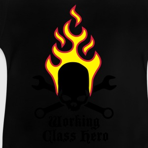 fire_skull_working_class_hero_a_3c Shirts - Baby T-shirt
