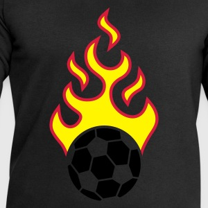 Black fire_fussball_a_3c_black  Aprons - Men's Sweatshirt by Stanley & Stella