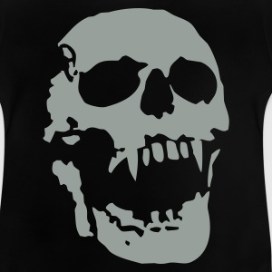 Black scream_skull_1c Kids' Shirts - Baby T-Shirt