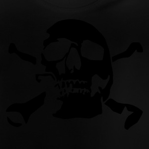 Black skull_and_bones_1c Kids' Shirts - Baby T-Shirt