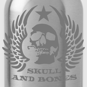 Black skull_and_bones_3_1c Hoodies & Sweatshirts - Water Bottle