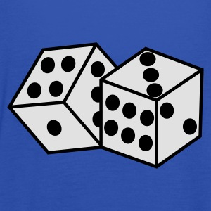 Peacock-blue Dice Men's T-Shirts - Women's Tank Top by Bella