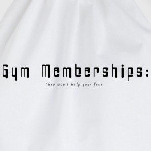 White Gym Membership Men's T-Shirts - Drawstring Bag
