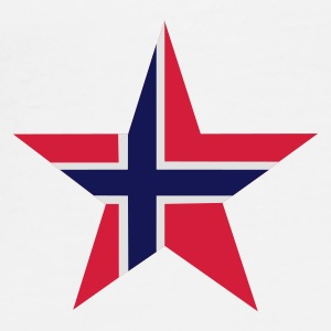 Norway_star - Premium-T-shirt herr