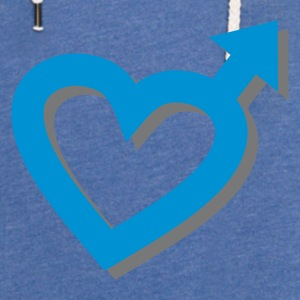 Sky blue Man Heart 3D Accessories - Let sweatshirt med hætte, unisex
