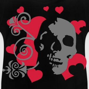 Black skull_heart_2c Kids' Shirts - Baby T-Shirt
