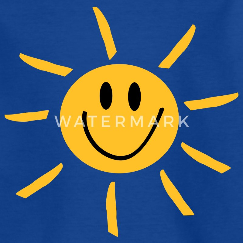 Royalblau Sonne Kinder T-Shirts - Teenager T-Shirt