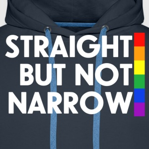 Navy Straight but not narrow Men's T-Shirts - Men's Premium Hoodie