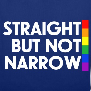 Navy Straight but not narrow Men's T-Shirts - Tote Bag