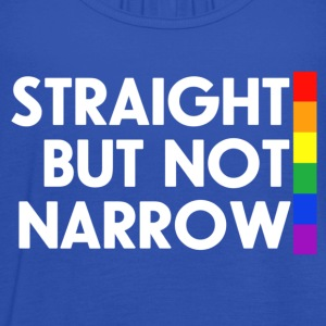 Navy Straight but not narrow Men's T-Shirts - Women's Tank Top by Bella