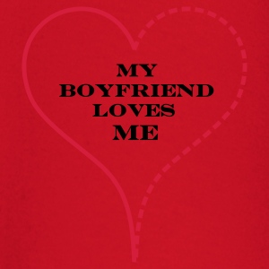 Red My Boyfriend Loves Me Bags  - Camiseta manga larga bebé