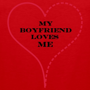 Red My Boyfriend Loves Me Bags  - Tank top premium hombre