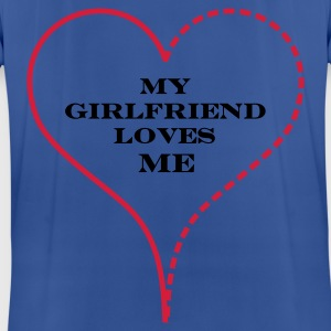 Royal blue My Girlfriend Loves Me Hoodies & Sweatshirts - Pustende T-skjorte for menn