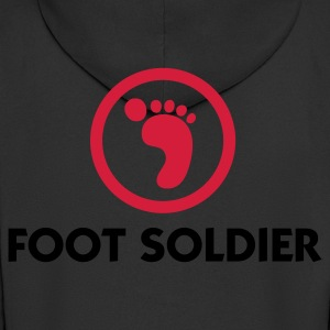 Black Foot Soldier (2c) Polo Shirts - Men's Premium Hooded Jacket