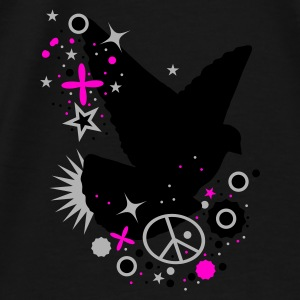 Black Peace Dove - symbol of peace Bags  - Men's Premium T-Shirt