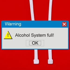 Dunkelrot warning_alcohol_full T-Shirts - Kontrast-Hoodie