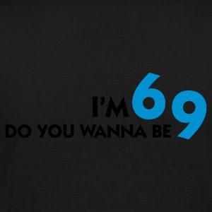 Black I'm 6 - Wanna be 9? (2c) Polo Shirts - Men's Premium T-Shirt