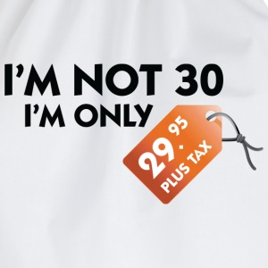 White I'm Not 30 (DD) Men's T-Shirts - Drawstring Bag