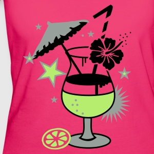 Magenta cocktail_hawaii Bags  - Women's Organic T-shirt
