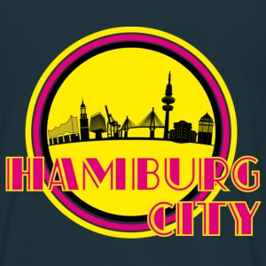 Navy Hamburg City Skyline Pullover - Männer T-Shirt